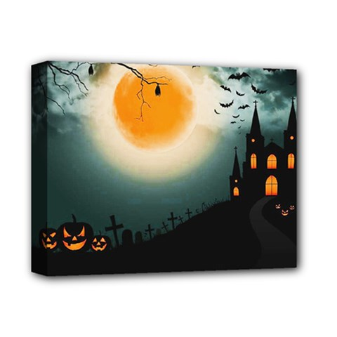 Halloween Landscape Deluxe Canvas 14  X 11  by ValentinaDesign