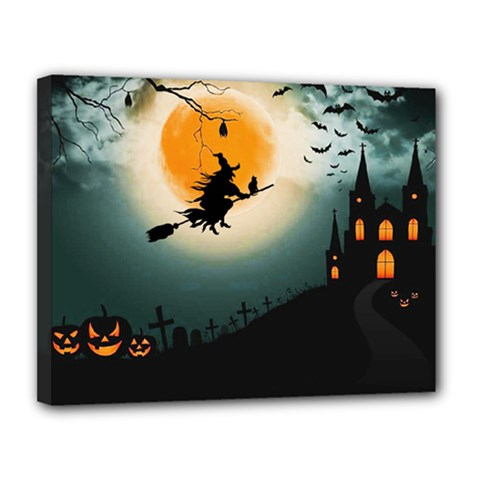 Halloween Landscape Canvas 14  X 11  by ValentinaDesign