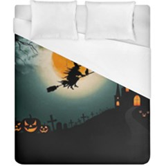 Halloween Landscape Duvet Cover (california King Size) by ValentinaDesign