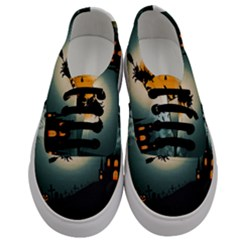 Halloween Landscape Men s Classic Low Top Sneakers