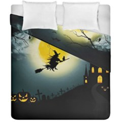 Halloween Landscape Duvet Cover Double Side (california King Size) by ValentinaDesign