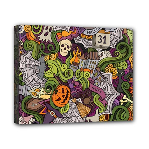 Halloween Pattern Canvas 10  X 8  by ValentinaDesign