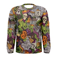 Halloween Pattern Men s Long Sleeve Tee by ValentinaDesign