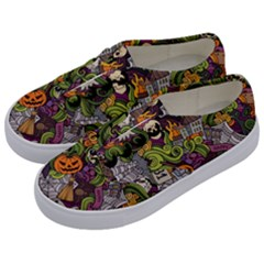 Halloween Pattern Kids  Classic Low Top Sneakers by ValentinaDesign