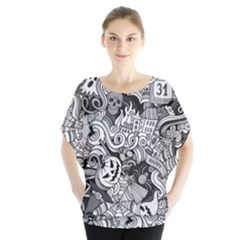 Halloween Pattern Blouse by ValentinaDesign