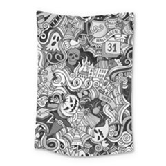 Halloween Pattern Small Tapestry by ValentinaDesign