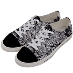 Halloween Pattern Women s Low Top Canvas Sneakers by ValentinaDesign