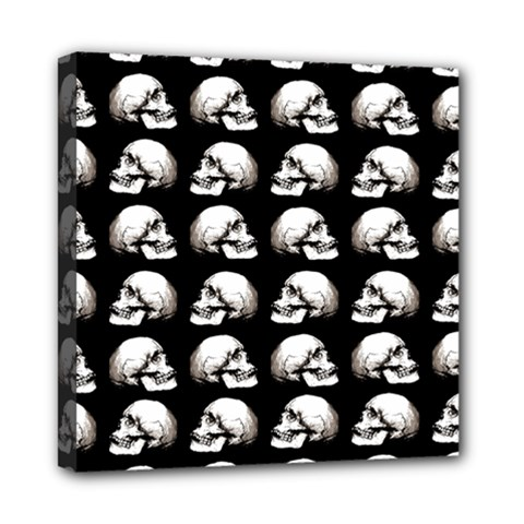 Halloween Skull Pattern Mini Canvas 8  X 8  by ValentinaDesign