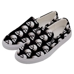 Halloween Skull Pattern Men s Canvas Slip Ons by ValentinaDesign