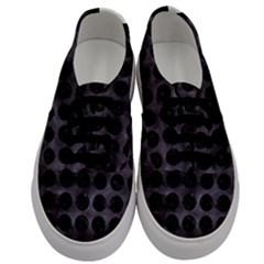 Circles1 Black Marble & Black Watercolor (r) Men s Classic Low Top Sneakers