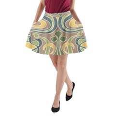 Art Nouveau A Line Pocket Skirt