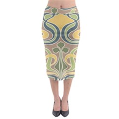 Art Nouveau Midi Pencil Skirt by 8fugoso