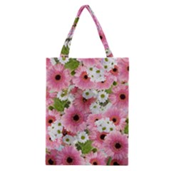Pink Flower Bg 2 Classic Tote Bag by AllOverIt
