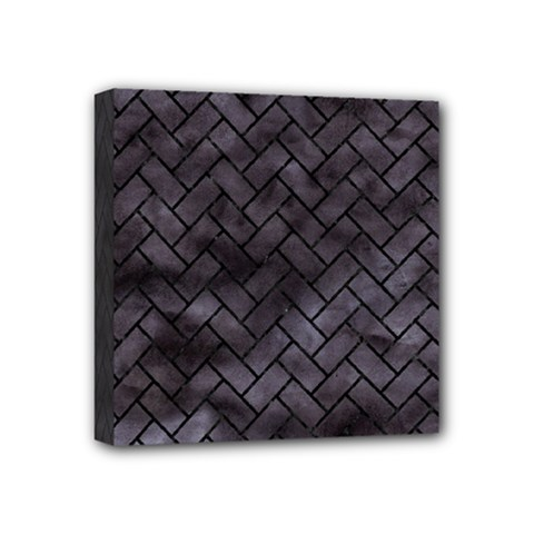 Brick2 Black Marble & Black Watercolor (r) Mini Canvas 4  X 4  by trendistuff