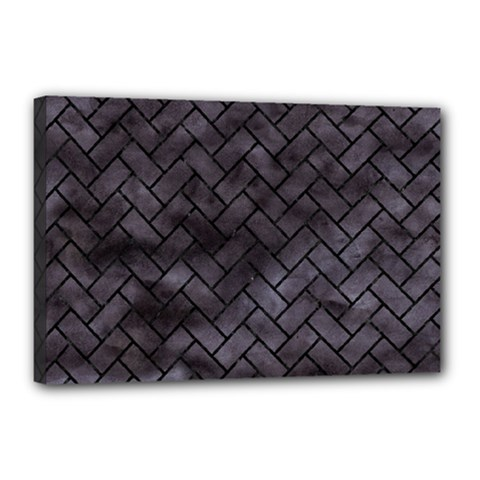 Brick2 Black Marble & Black Watercolor (r) Canvas 18  X 12  by trendistuff