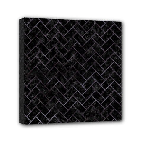 Brick2 Black Marble & Black Watercolor Mini Canvas 6  X 6  by trendistuff