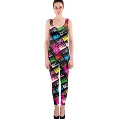 Pattern Colorfulcassettes Icreate Onepiece Catsuit by iCreate
