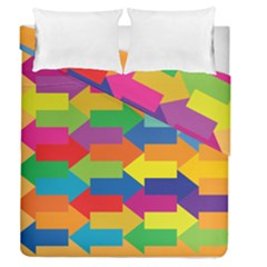 Arrow Rainbow Orange Blue Yellow Red Purple Green Duvet Cover Double Side (queen Size) by Mariart