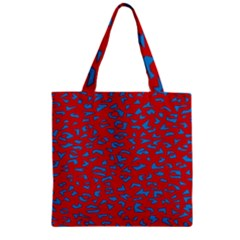 Blue Red Space Galaxy Zipper Grocery Tote Bag by Mariart