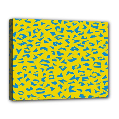 Blue Yellow Space Galaxy Canvas 14  X 11  by Mariart