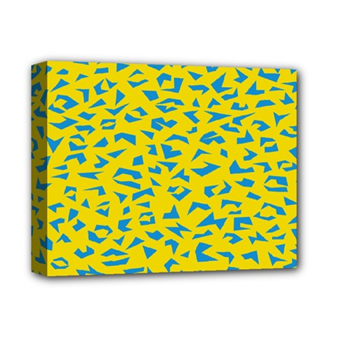 Blue Yellow Space Galaxy Deluxe Canvas 14  X 11  by Mariart