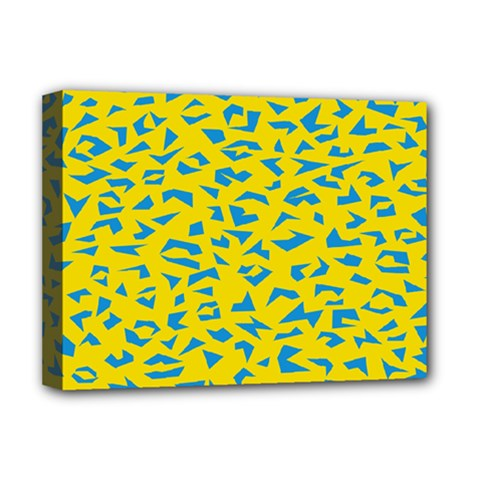 Blue Yellow Space Galaxy Deluxe Canvas 16  X 12   by Mariart