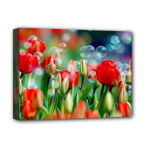 Colorful Flowers Deluxe Canvas 16  X 12   by Mariart