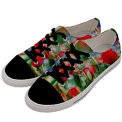 Colorful Flowers Men s Low Top Canvas Sneakers by Mariart
