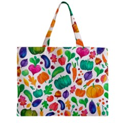 Pattern Autumn White Medium Tote Bag by Mishacat