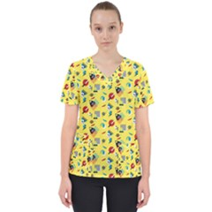Memphis Gothic Scrub Top by StacyBias