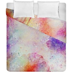Watercolor Galaxy Purple Pattern Duvet Cover Double Side (california King Size) by paulaoliveiradesign