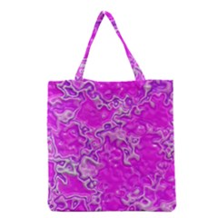 Wet Plastic, Pink Grocery Tote Bag by MoreColorsinLife