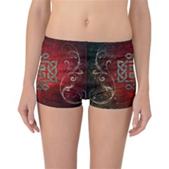 The Celtic Knot With Floral Elements Reversible Boyleg Bikini Bottoms by FantasyWorld7
