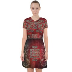 The Celtic Knot With Floral Elements Adorable In Chiffon Dress by FantasyWorld7