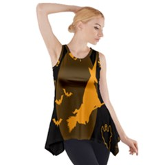 Day Hallowiin Ghost Bat Cobwebs Full Moon Spider Side Drop Tank Tunic by Mariart