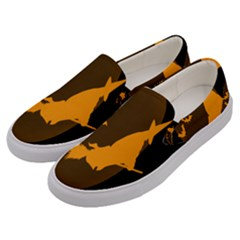 Day Hallowiin Ghost Bat Cobwebs Full Moon Spider Men s Canvas Slip Ons by Mariart