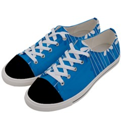 Flower Blue Women s Low Top Canvas Sneakers by Mariart