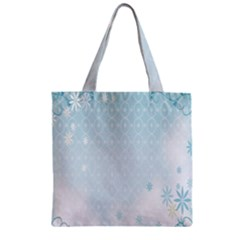 Flower Blue Polka Plaid Sexy Star Love Heart Zipper Grocery Tote Bag by Mariart