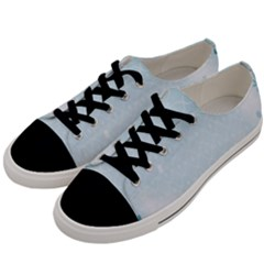 Flower Blue Polka Plaid Sexy Star Love Heart Men s Low Top Canvas Sneakers by Mariart