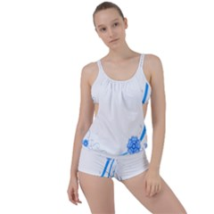 Flower Blue Sunflower Star Sexy Boyleg Tankini Set