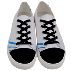 Flower Blue Sunflower Star Sexy Men s Low Top Canvas Sneakers