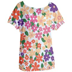 Flower Floral Rainbow Rose Women s Oversized Tee