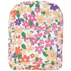 Flower Floral Rainbow Rose Full Print Backpack by Mariart