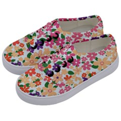 Flower Floral Rainbow Rose Kids  Classic Low Top Sneakers by Mariart
