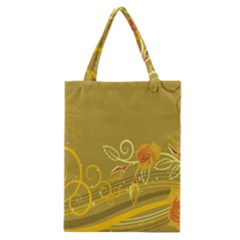 Flower Floral Yellow Sunflower Star Leaf Line Gold Classic Tote Bag by Mariart