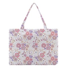 Flower Floral Sunflower Rose Purple Red Star Medium Tote Bag by Mariart