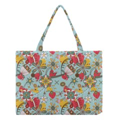 Flower Fruit Star Polka Rainbow Rose Medium Tote Bag by Mariart