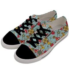 Flower Fruit Star Polka Rainbow Rose Men s Low Top Canvas Sneakers by Mariart