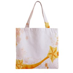 Flower Floral Yellow Sunflower Star Leaf Line Zipper Grocery Tote Bag by Mariart