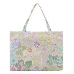 Flower Rainbow Star Floral Sexy Purple Green Yellow White Rose Medium Tote Bag by Mariart